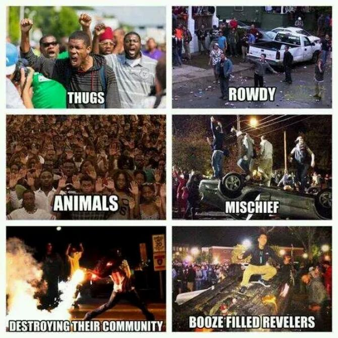 Black Riots vs. White Riots