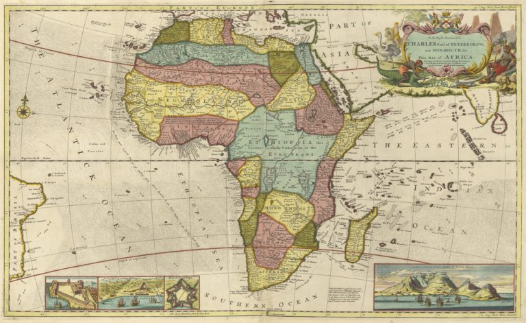1710 Map of Judah In Africa