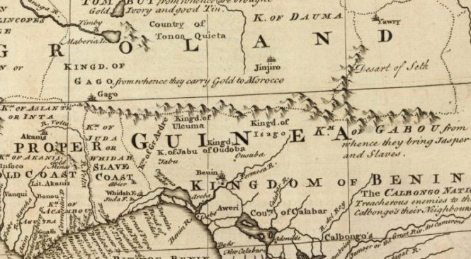 1747 Map of The Kingdom of Judah In Africa