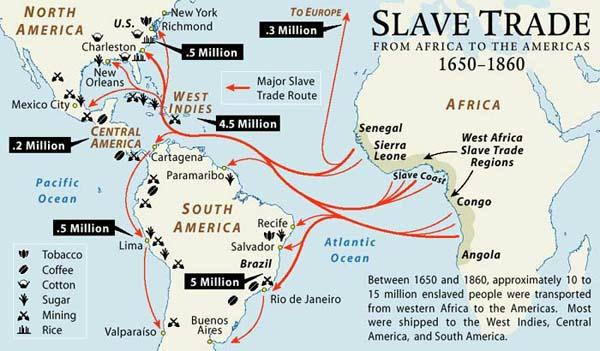 North Atlantic Slave Trade Map