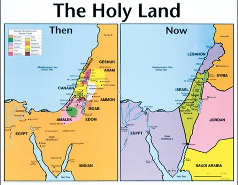 The Land of Edom - Map of Edomite Territory - Edom Israel Border