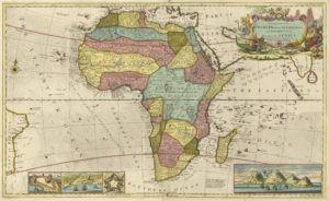 1710 Map of Judah On The West Coast of Africa