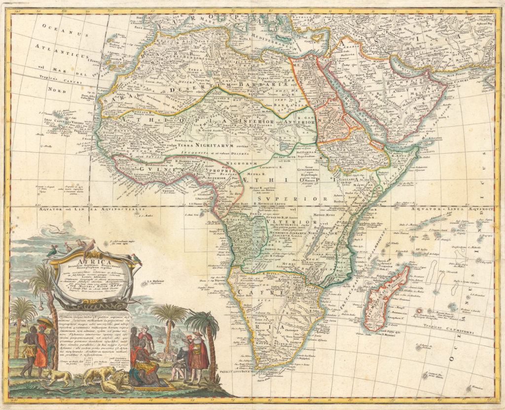 1737 Map of Judah On The West Coast of Africa