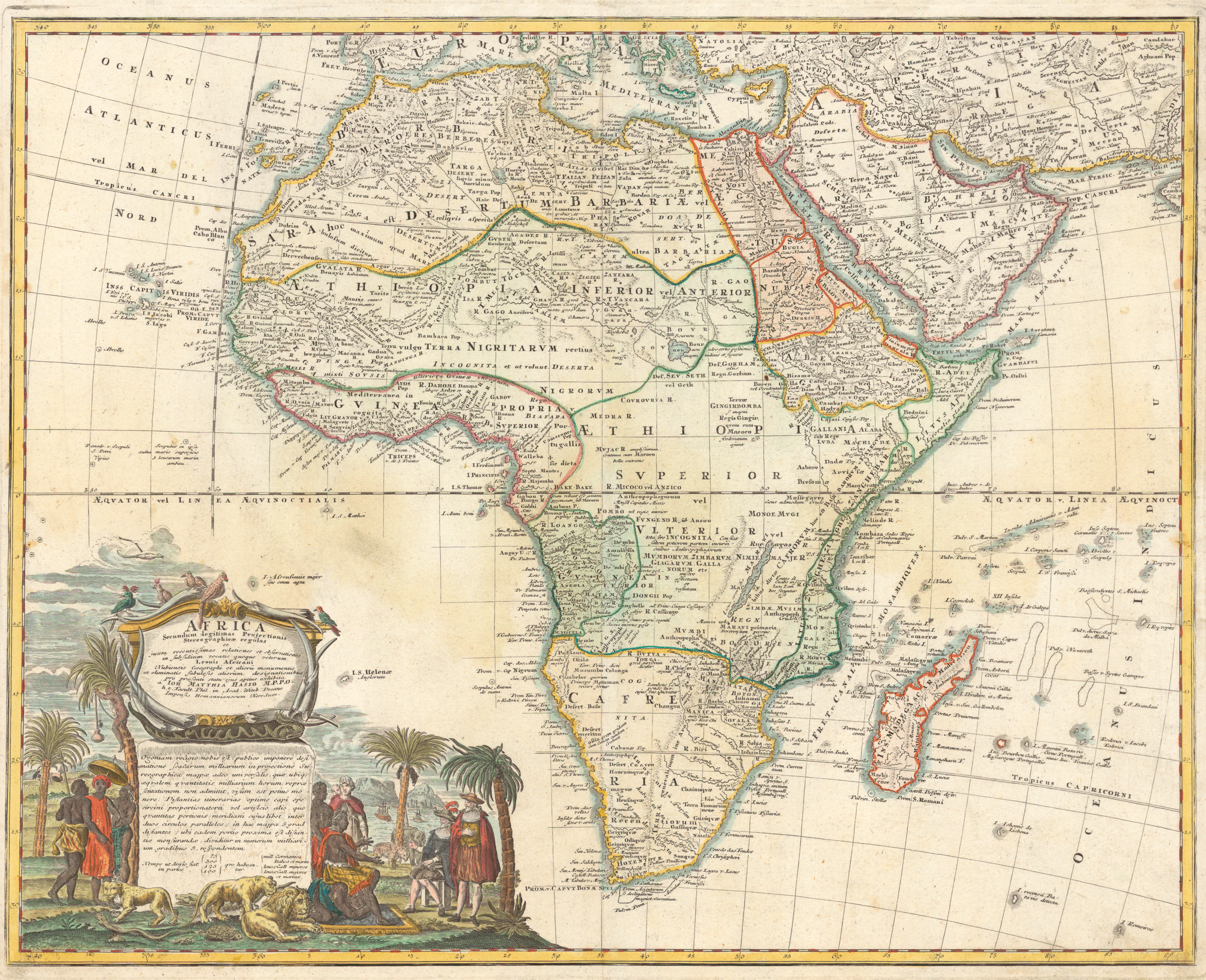 1737: German Map of Judah On The West Coast of Africa