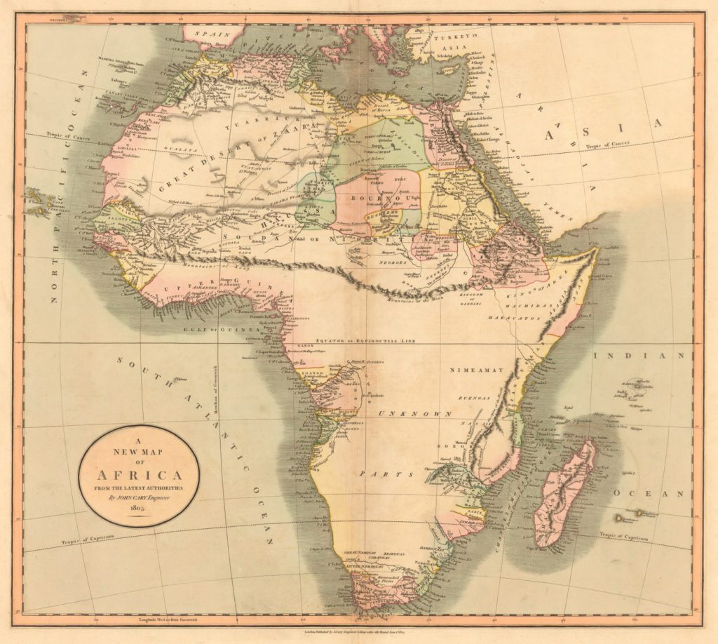 1805 Map Without Judah On The West Coast of Africa