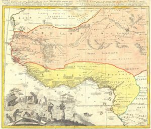 1743 Homann Heirs Map of Judah In West Africa