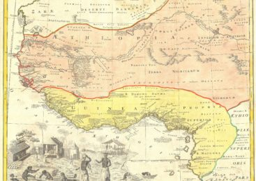 1743: Homann Heirs' German Map of Judah On The West Coast of Africa