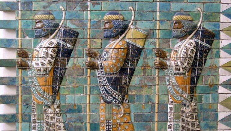 Elamite Archers On The Walls At Susa