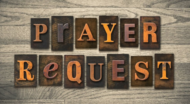 Monthly Call To Prayer / Prayer Requests – October 2018