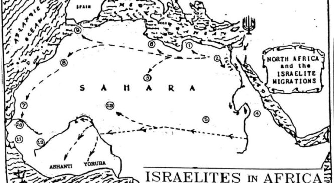 Map of Hebrew Migration Into Africa