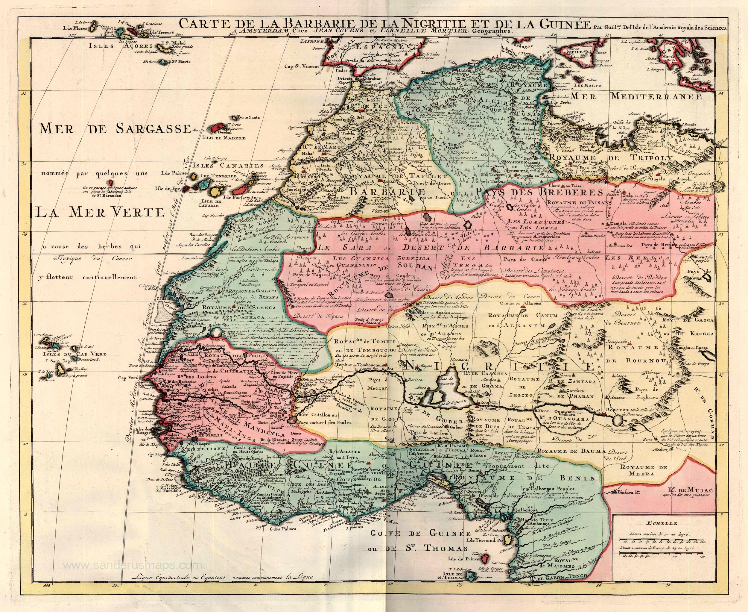 1720 Map of The Kingdom of Judah In Africa