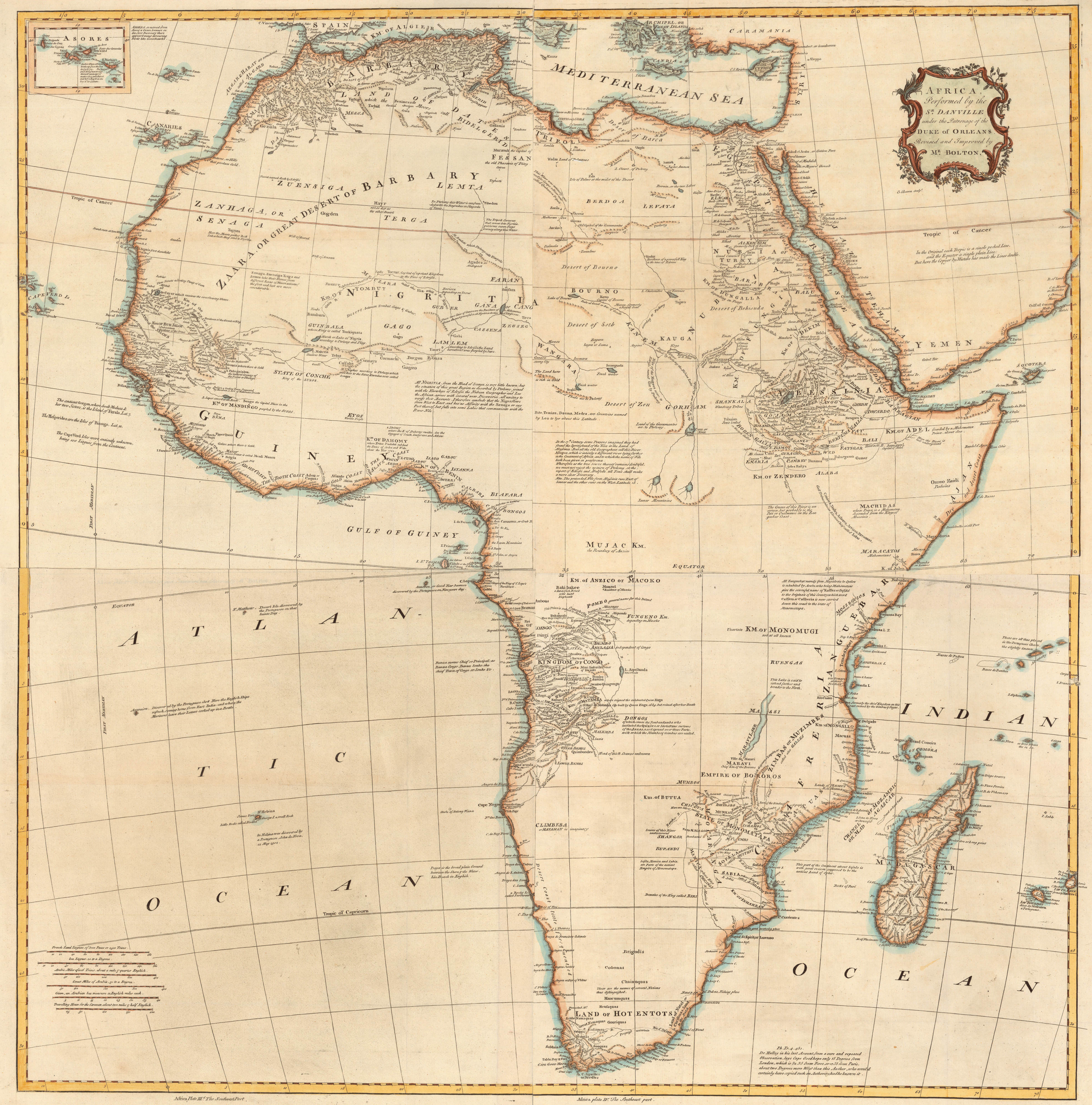 """1766: French Map Shows Negroland As """"Populated By Jews"""" – Black"""