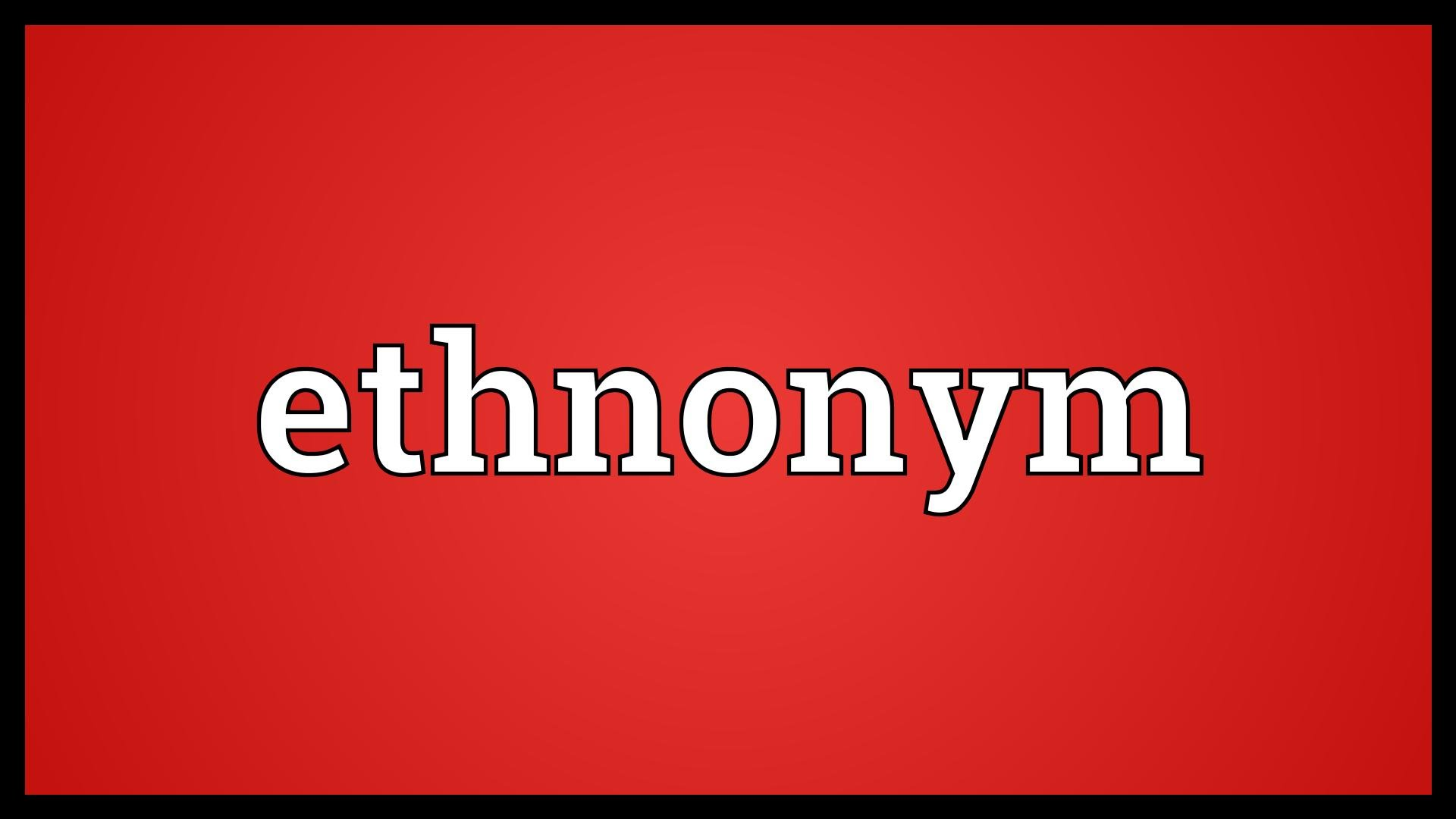 Ethnonyms In The Bible