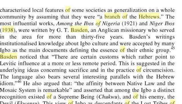 1890 – 1970: Igbos Suspected To Be Hebrews