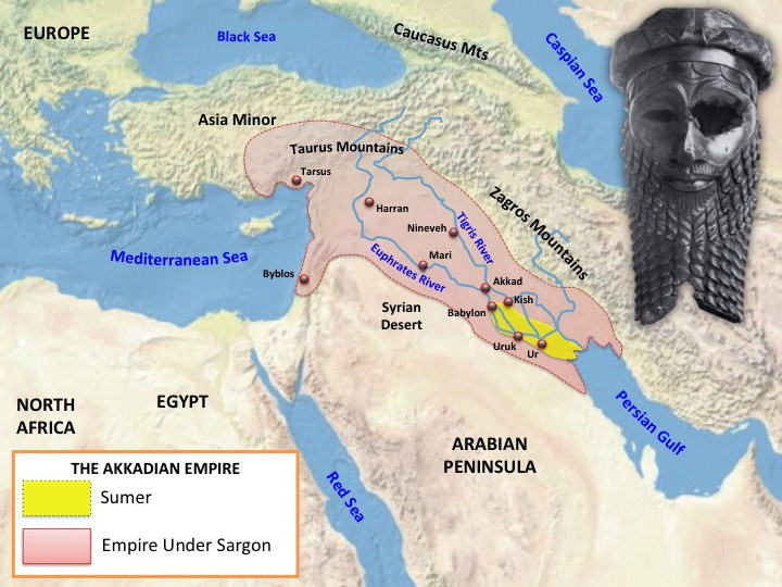 Akkadian Empire Map